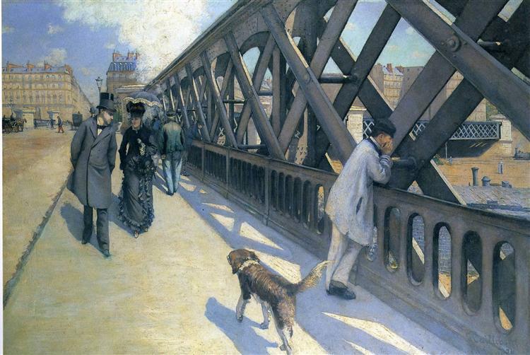 Le Pont de L'Europe, c.1881 - c.1882 - 古斯塔夫·卡耶博特