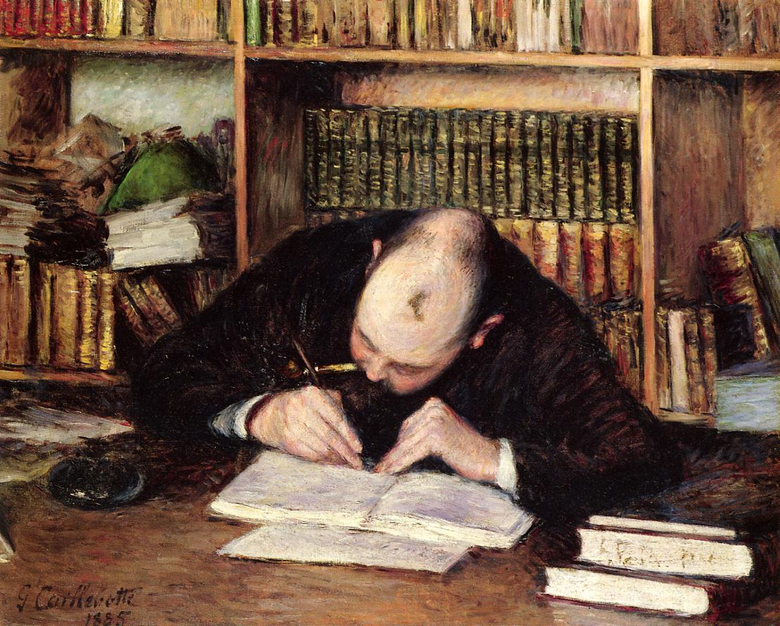 Portrait of a Man Writing in His Study, 1885