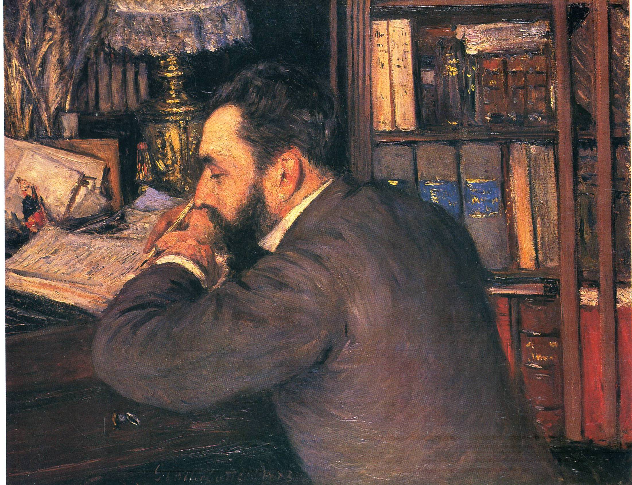 Portrait of Henri Cordier, teacher at the School of Oriental Languages, 1883