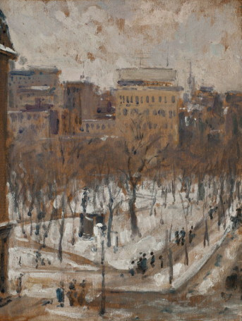 Square in Paris, Snowy Weather, 1887-1888