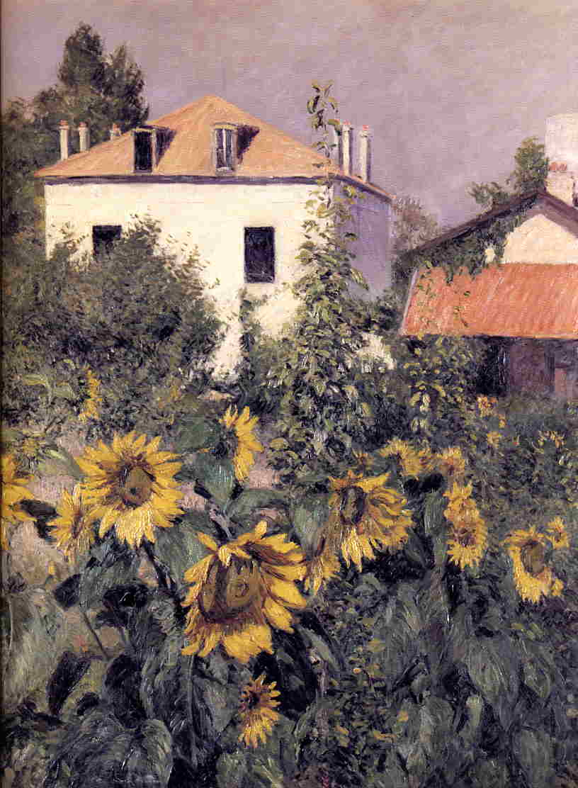Sunflowers in the Garden at Petit Gennevilliers, 1885