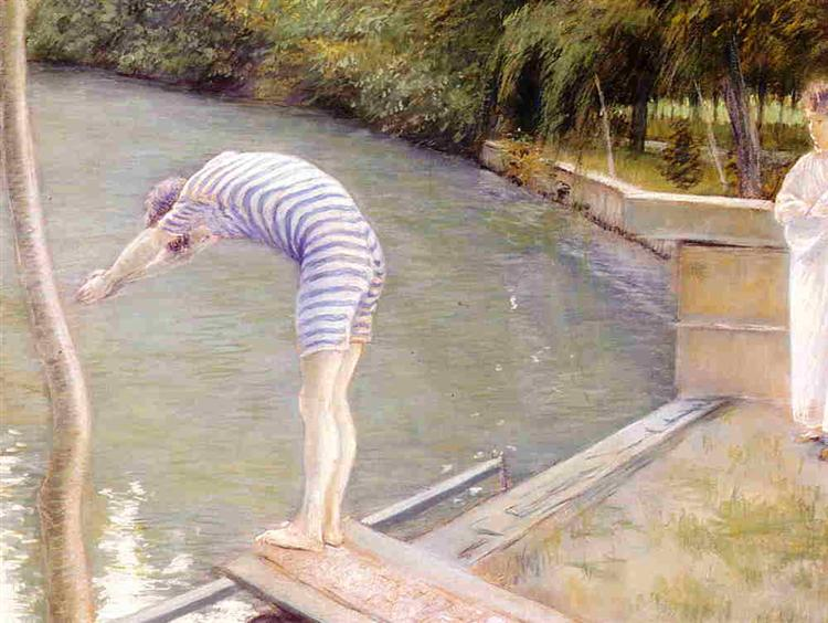 The Bather, or The Diver, 1877 - Gustave Caillebotte