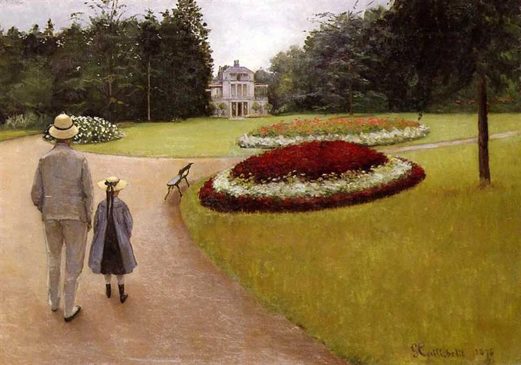 The Park on the Caillebotte Property at Yerres, 1875 - Gustave Caillebotte