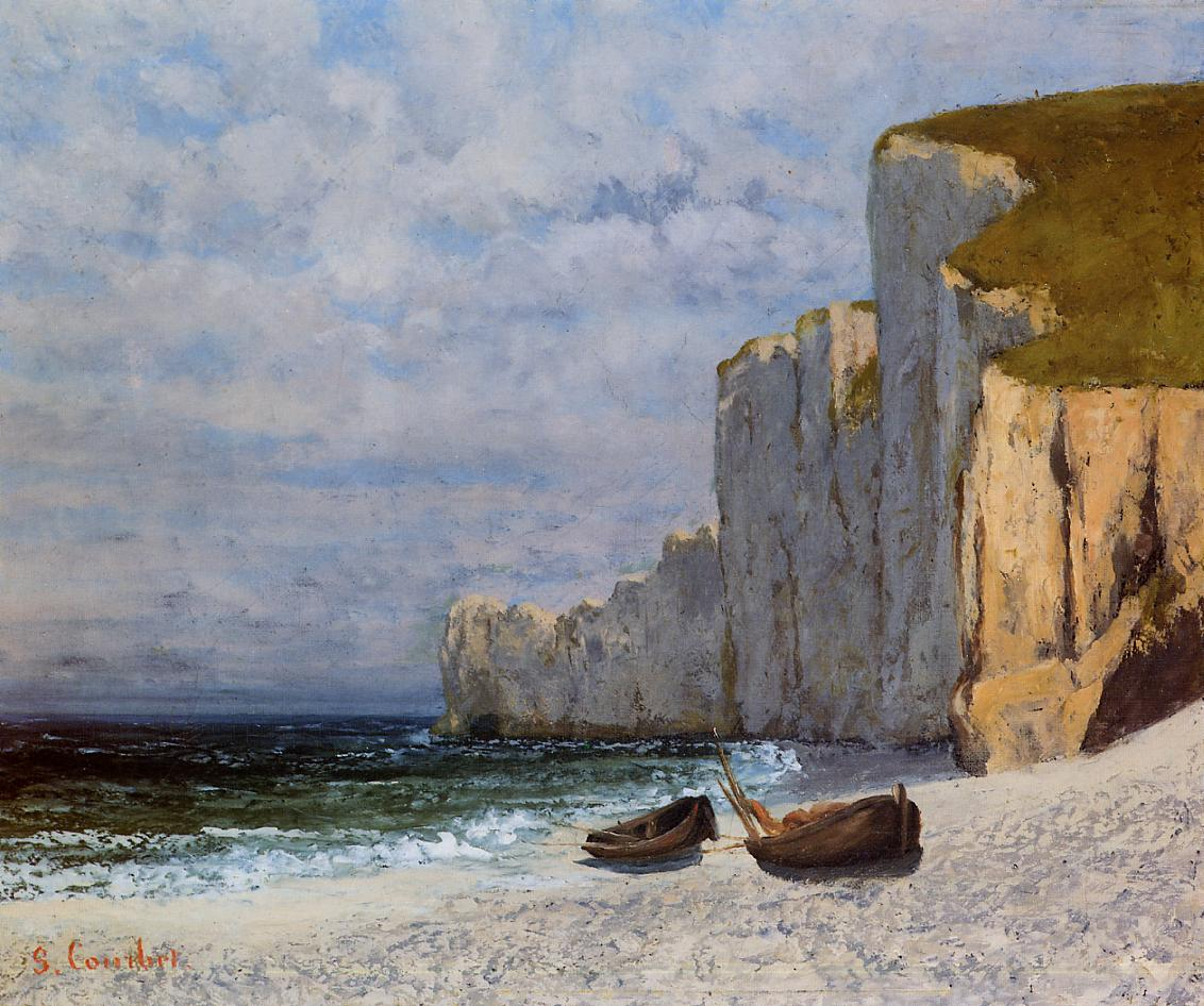 Bay with Cliffs - Gustave Courbet - WikiArt.org - encyclopedia of visual arts