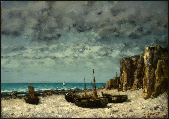 Boats on a Beach, Etretat, c.1869 - Gustave Courbet