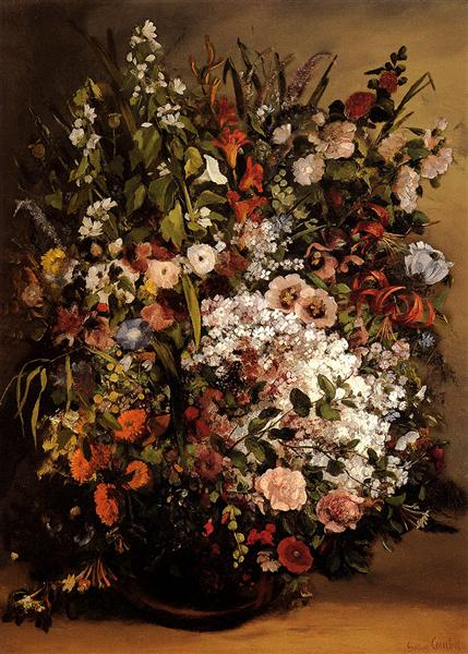 Bouquet of Flowers, 1862 - Gustave Courbet