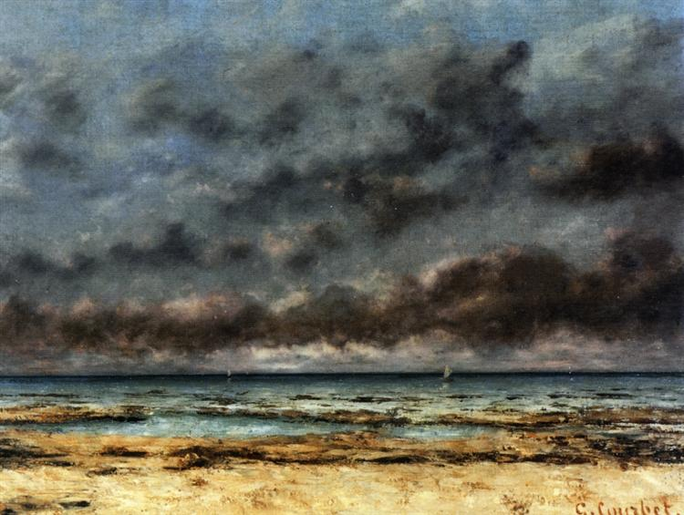 Calm Seas, 1873 - Gustave Courbet