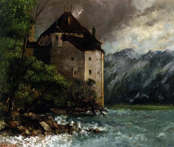 Chateau de Chillon, 1873 - Gustave Courbet