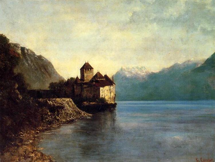Chateau du Chillon, 1874 - Gustave Courbet