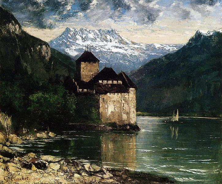 Chateau du Chillon, 1874 - 1875 - Gustave Courbet