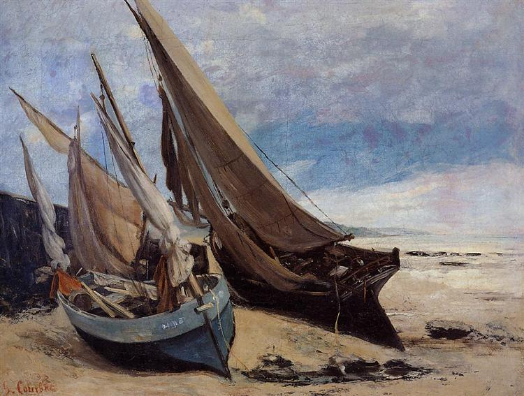 Fishing Boats on the Deauville Beach, 1866 - Gustave Courbet
