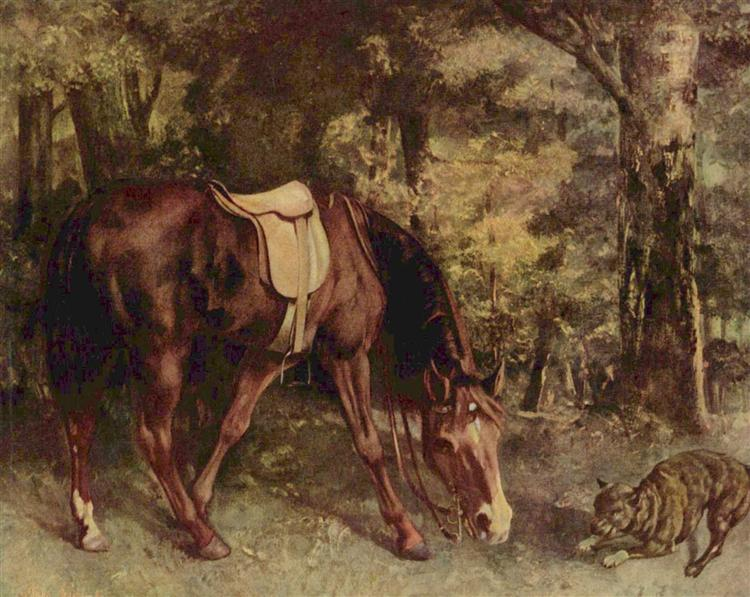 Horse in the Woods, 1863 - Gustave Courbet
