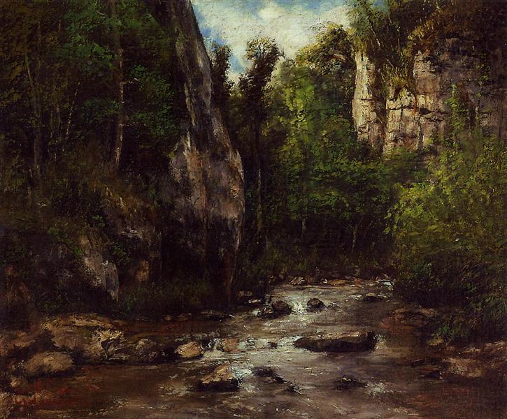 Landscape near Puit Noir, near Ornans, 1872 - Gustave Courbet