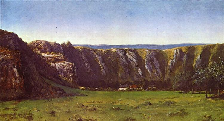 Rocky landscape near Flagey, 1855 - Gustave Courbet
