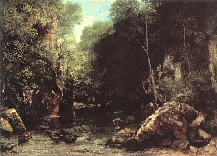 Rocky River Valley, 1865 - Gustave Courbet