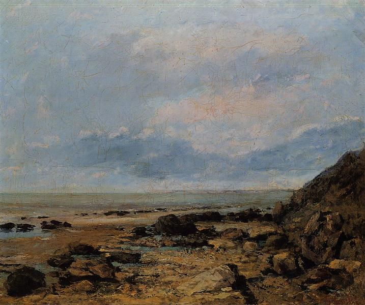 Rocky Seashore, c.1865 - Gustave Courbet