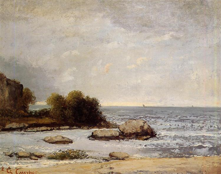 Seascape at Saint Aubin - Gustave Courbet