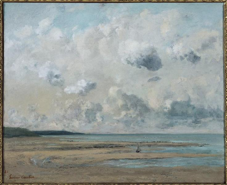 Shores of Normandy, 1866 - Gustave Courbet