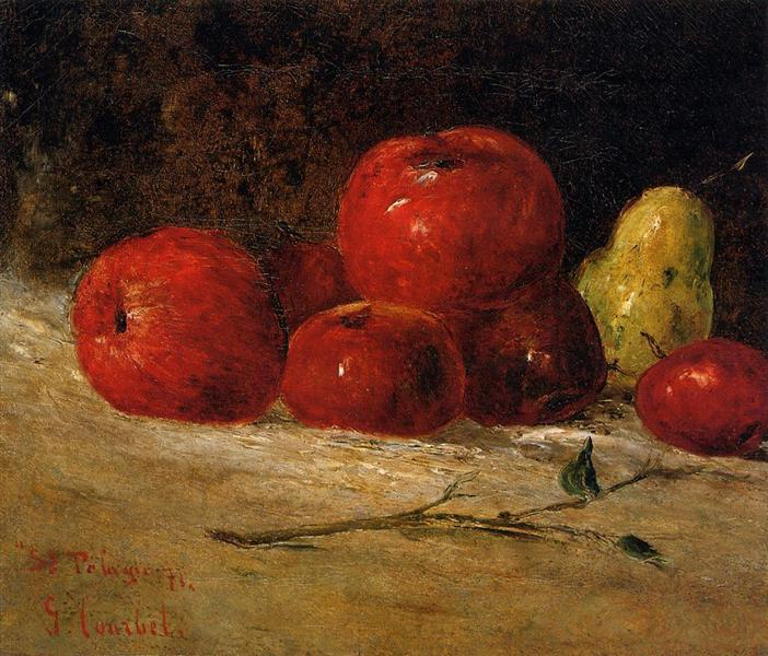 Still Life Apples and Pears, 1871 - Gustave Courbet