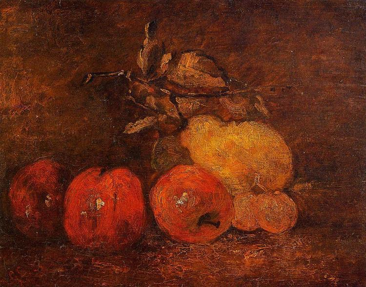 Still Life with Pears and Apples, c.1873 - Gustave Courbet