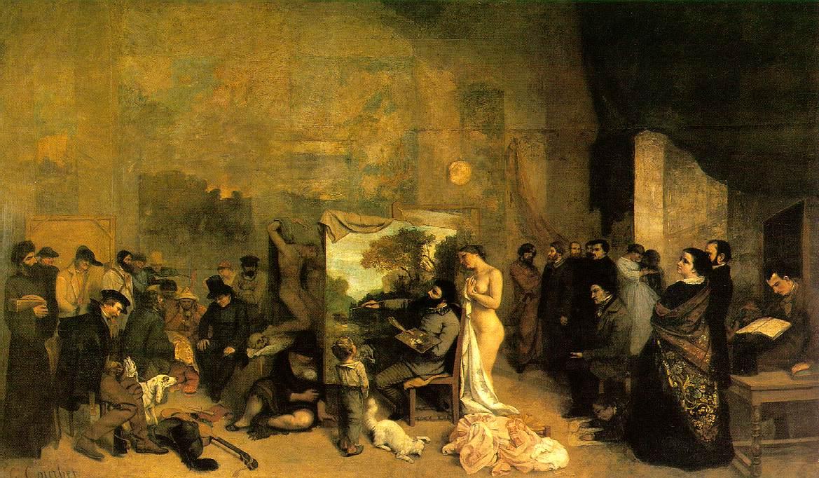 the artist s studio 1855