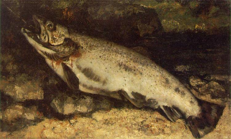 The Trout, 1872 - Gustave Courbet