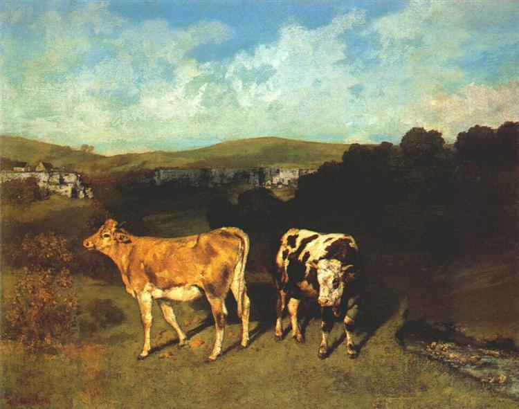 White Bull and Blond Heifer, 1850 - 1851 - Gustave Courbet