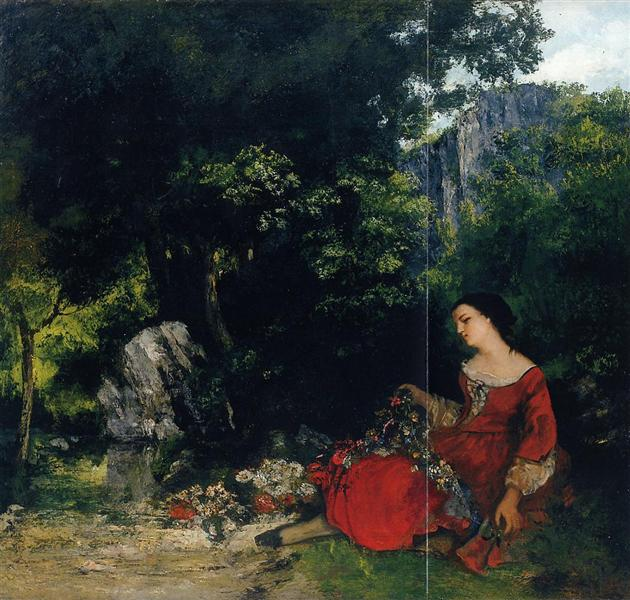 Woman with Garland, 1856 - Gustave Courbet