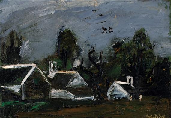 Landscape with Farmhouses, 1942 - Gustave de Smet