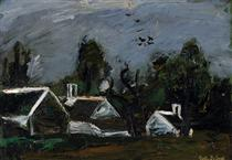 Landscape with Farmhouses - Густав де Смет