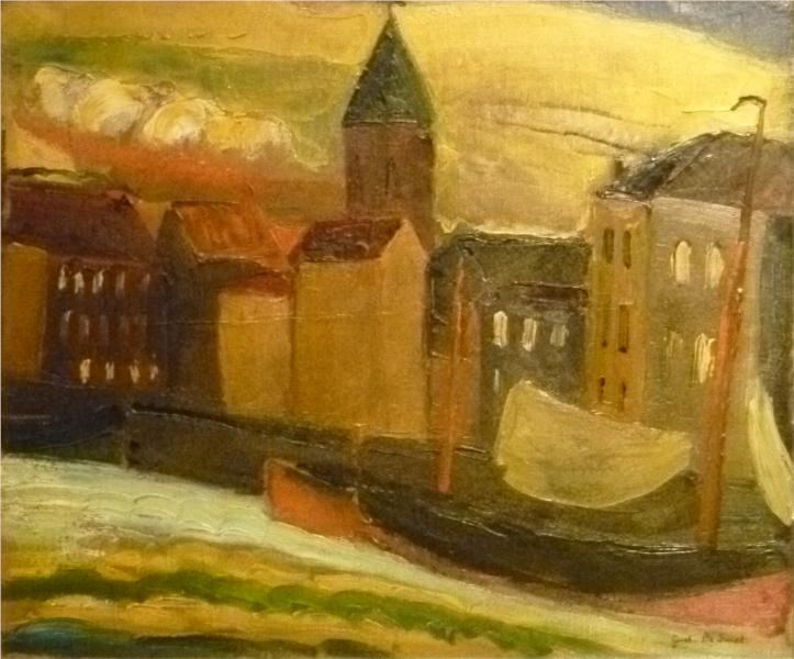 The port of Ostend, 1922 - Gustave de Smet