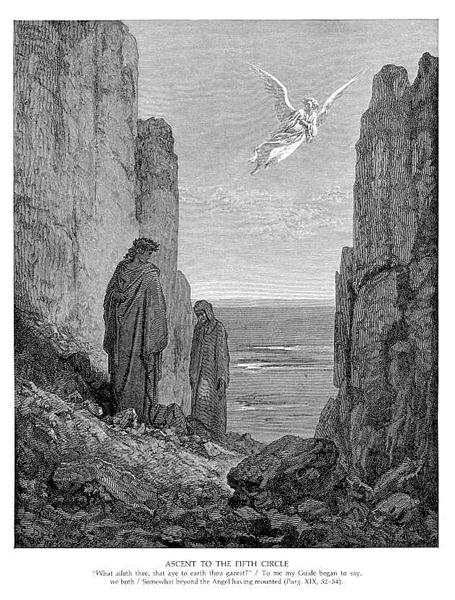 Ascent to the Fifth Circle - Gustave Dore