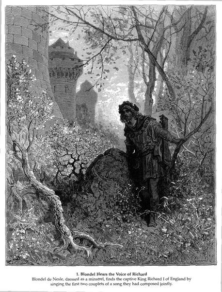 Blondel hears the voice of Richard the Lionheart, 1877 - Gustave Dore