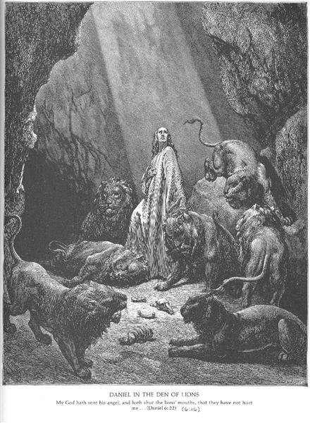 Daniel in the Den of Lions, c.1868 - Gustave Dore
