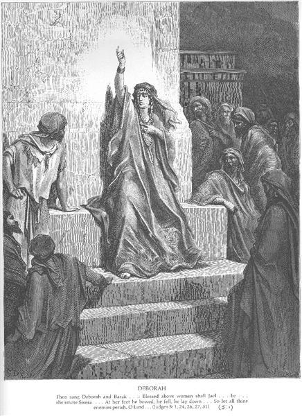 Дебора, выгравированная Эттлином, c.1868 - Гюстав Доре