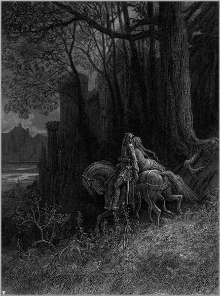 Geraint and Enid Ride Away - Dore Gustave