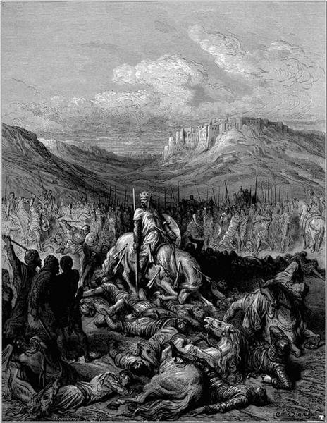 Glorious death of Jacques de Maille Marshal of the temple - Dore Gustave