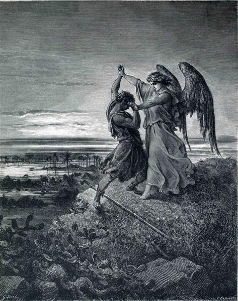 Jacob Wrestling with the Angel - Dore Gustave