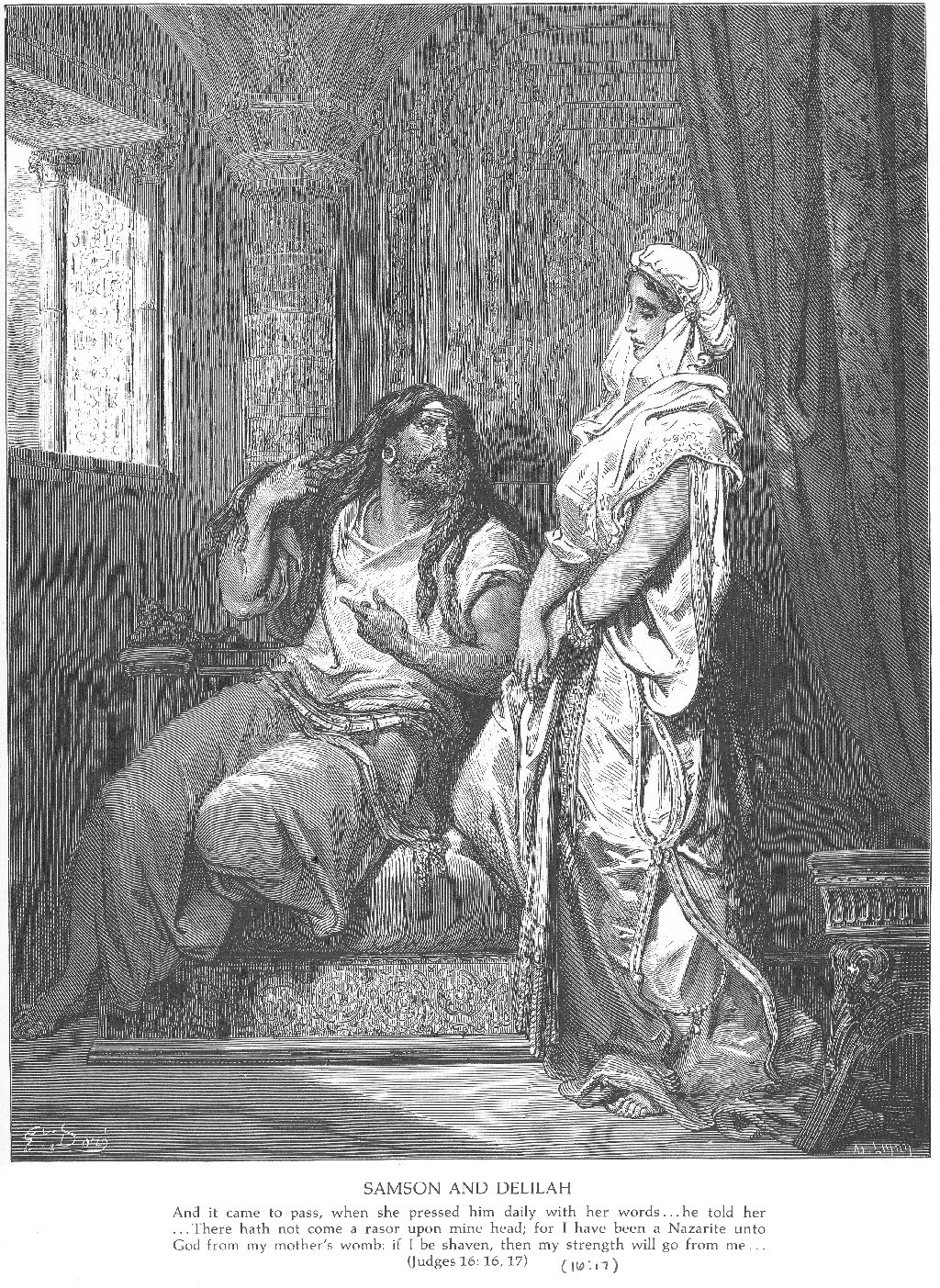 samson and delilah gustave dore wikiart org