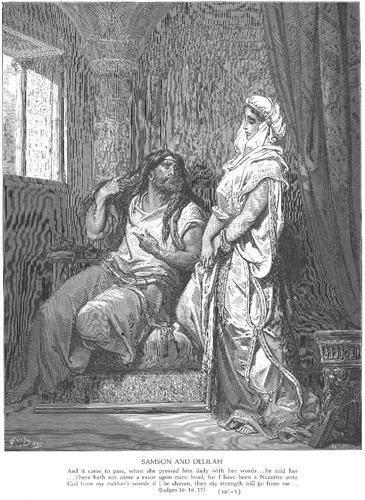 Samson and Delilah - Gustave Dore