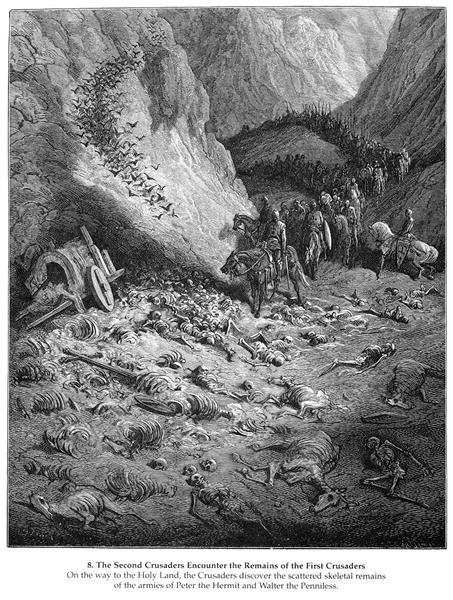 The army of the Second Crusade find the remains of the soldiers of the First Crusade, 1877 - Gustave Doré