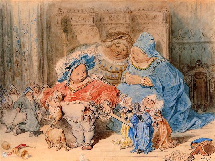 The Childhood of Gargantua - Gustave Dore