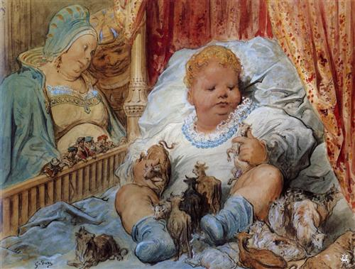 The childhood of Pantagruel - Gustave Dore