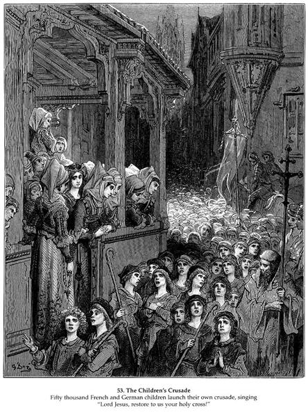The Children's Crusade in 1212, 1877 - Gustave Dore