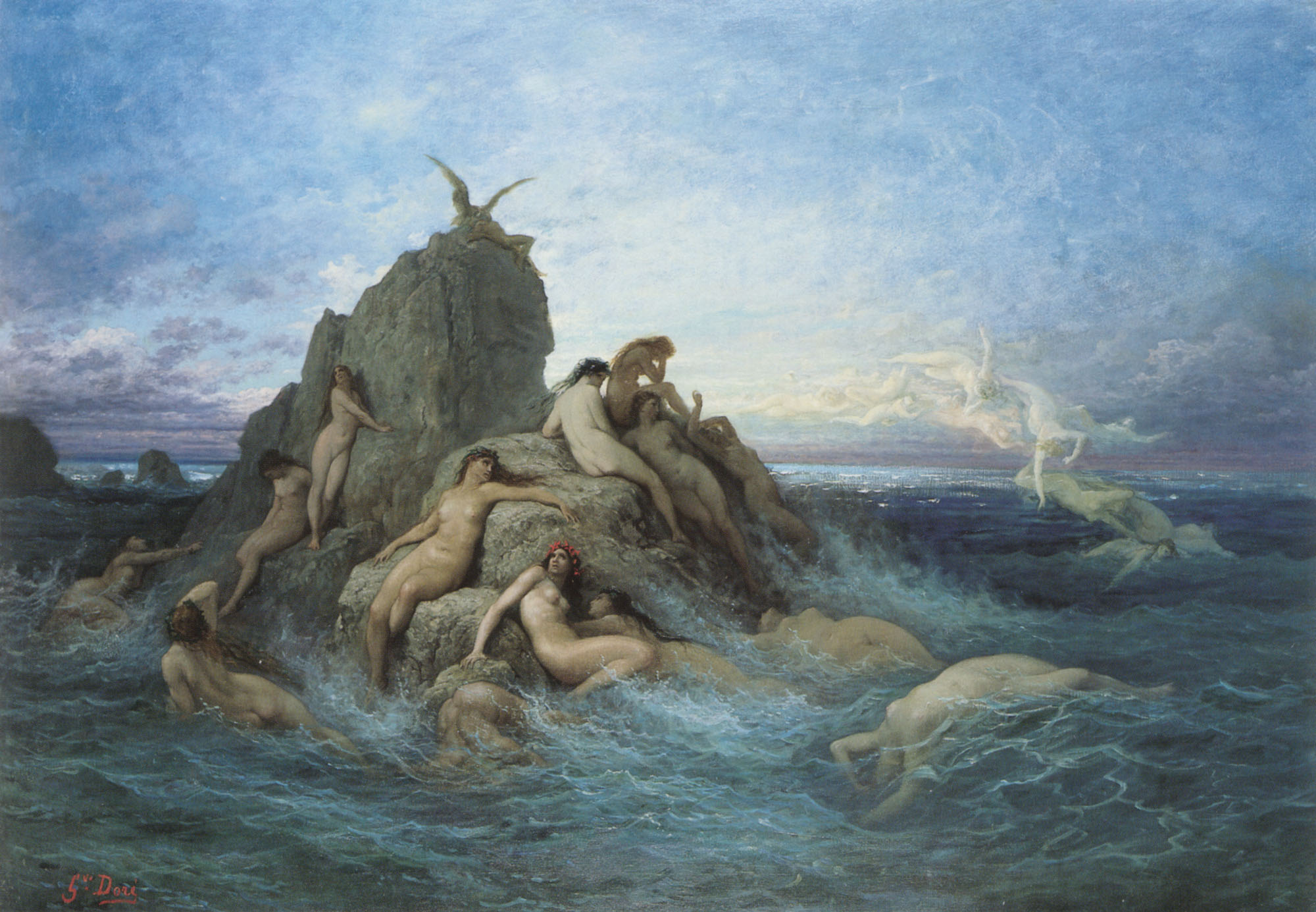 The Oceanides - Gustave Dore - WikiArt.org - encyclopedia ...