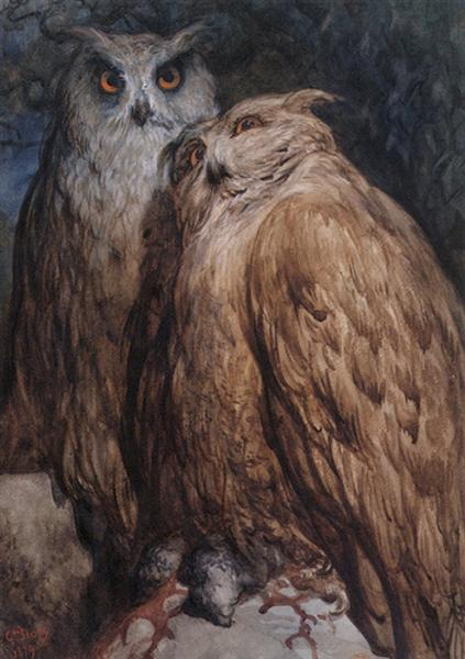 Two Owls - Dore Gustave