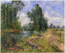 By the Lorne River near Caen - Gustave Loiseau