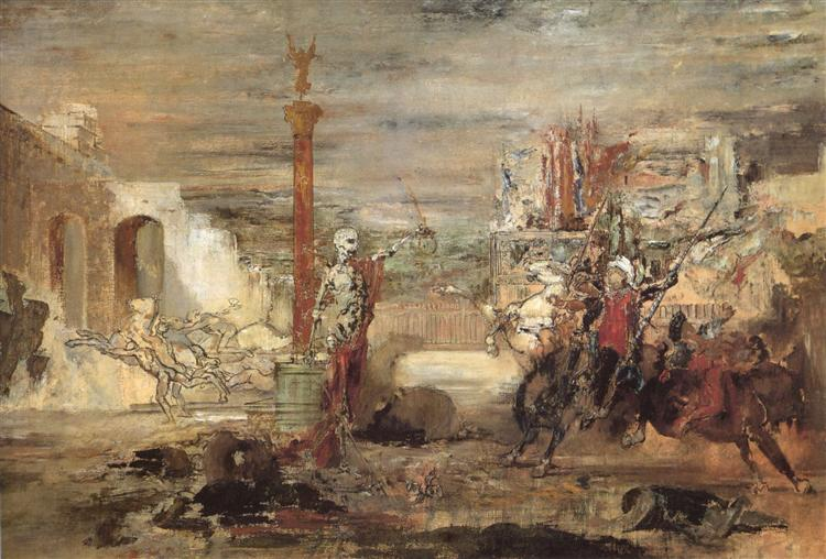 Death Offers Crowns to the Winner of the Tournament, c.1855 - c.1860 - Gustave Moreau