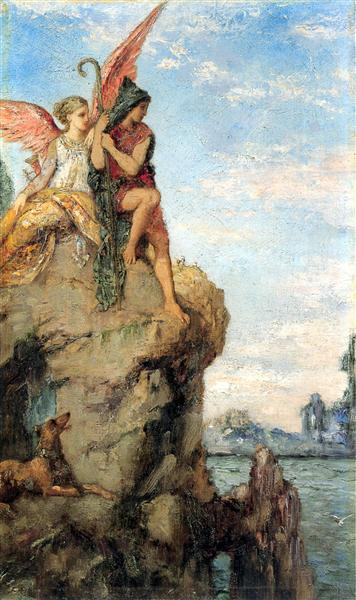 Hesiod and the Muse, 1870 - Gustave Moreau