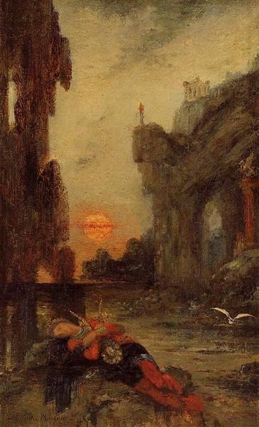 The Death of Sappho, c.1872 - 1875 - Гюстав Моро